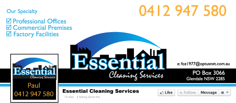 Social Media Banner Essential Cleaning Services